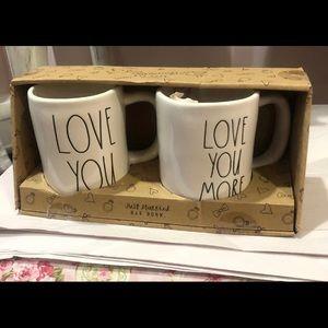 Rae Dunn Love You/Love You More Mug Set